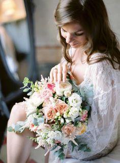 Romantic bundle of blooms: http://www.stylemepretty.com/2015/10/05/romantic-italian-villa-wedding-on-lake-como/ | The Cab Look Foto Lab - http://www.thecablookfotolab.com/