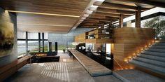 Un espace de design d'intérieur contemporain