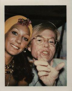 Marisa Berenson and Andy Warhol polaroid.