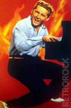 "Jerry Lee Lewis (b. 29 Sep, 1935) singer-songwriter and pianist. Nickname ""The Killer"". Hit in the late 50s   ""Whole Lotta Shakin' Goin' On"", ""Great Balls of Fire"".  His  career faltered in the wake of  marriage to his cousin, age 13, recovered  a little in the late 1960s."