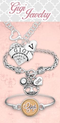 Customized jewelry for Gigi! - $9.98 // Check out our entire line of Gigi jewelry! Also available in Grandma, Memaw, Mimi, Mom, and more!