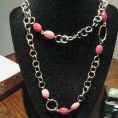 Pink And Rose Chain Necklace