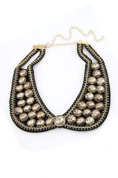Graceful small detachable collar necklace