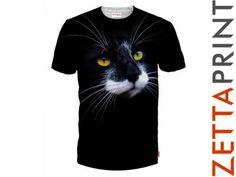 KOTEK KOT Koszulka T-Shirt Full Print AMO_RD0030