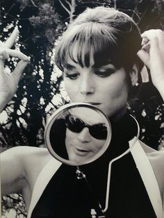Tazio Secchiaroli :: Elsa Martinelli [Marcelo Mastroianni] on the set of The Tenth Victim - Cinecittà, Roma, 1965