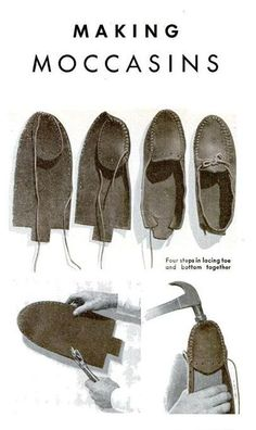 make moccasins! by shopportunity make moccasins Likes : , Lover : The post appeared first on Best Of Daily Sharing. make moccasins! Maybe Ezra could make these next :) Making Moccasins found on v. might make some out of thick felt for slippers. Mocassins Cuir, Estilo Hippie, Shoe Pattern, How To Make Shoes, How To Make Moccasins, Leather Projects, Diy Clothing, Leather Working, Diy Fashion