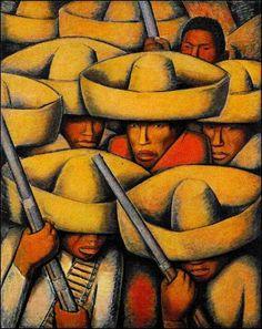 Soldados pintado por David Alfaro Siqueiros Soldiers...
