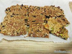 Barra energética de aveia e frutas, um snack fácil de fazer e delicioso, experimente!
