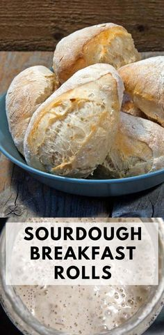 Starting the day with these sourdough breakfast rolls is a real treat. No kneading required. Just mix the dough before you go to bed, and you will have freshly baked bread for breakfast in 45 minutes next morning. #Sourdoughbread #artisanbread #breakfastrolls