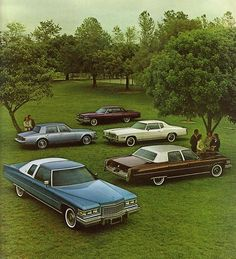 1976 Cadillac line-up