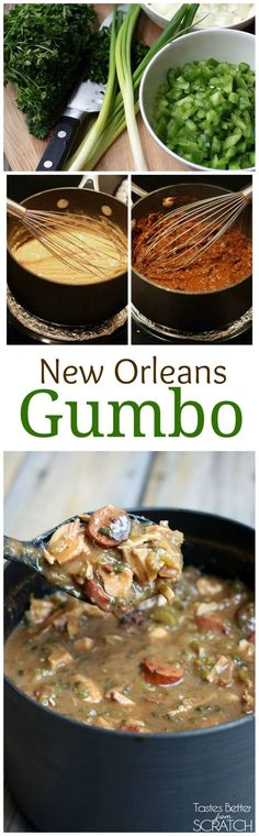 Authentic New Orleans Style Gumbo recipe on TastesBetterFromScratch.com #nola #neworleans #bigeasy #gumbo #recipe