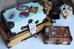 Cómo hacer #maletitas de estilo #vintage #maletas #suitcase