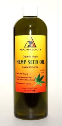 Hemp Seed Oil Unrefined Organic Virgin Carrier Cold Pressed Pure 48 oz ** Details can be found by clicking on the image.