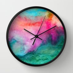 Staring at the Ceiling Wall Clock by Jacqueline Maldonado - $30.00