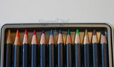 Derwent Pencils Watercolors, I just love to work with these.