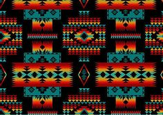 Tucson 252 Aztec Cotton Fabric by Elizabeth's Studio! 5 Choices! | eBay