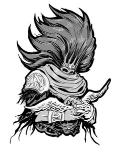 Dark Souls 3 sketch: Nameless and Storm King by MenasLG on DeviantArt