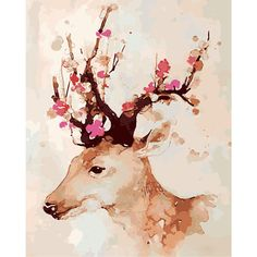 Modern Simple DIY Hand Panting DIY Oil Painting Deer Wall Art 40*5... (525 UYU) ❤ liked on Polyvore featuring home, home decor, wall art, art, backgrounds, decor, diy canvas painting, modern canvas paintings, mod home decor and deer painting