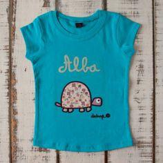 Camiseta niña manga corta tortuga con tu nombre - Marketplace social de tiendas para niños de 0 a 14 años