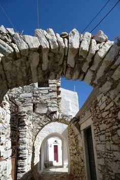 Apiranthos village, Naxos Island, Greece