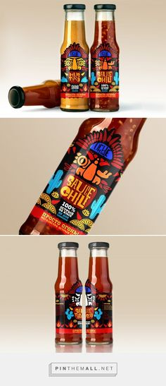 Ognishche sauce student packaging design concept by Katy Sushanskaya - http://www.packagingoftheworld.com/2018/01/pungent-sauces-ognishche-bonfire.html
