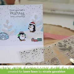 Today on the @lawnfawn blog we are sharing our cards using, Snow Cool and the…