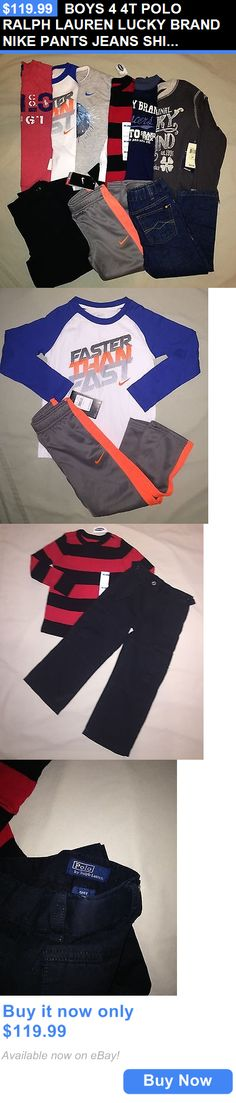 Baby Boys Clothing And Accessories: Boys 4 4T Polo Ralph Lauren Lucky Brand Nike Pants Jeans Shirt Nwt BUY IT NOW ONLY: $119.99