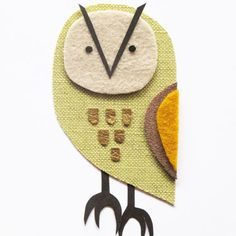 owl fabric collage by Zoe Bowden