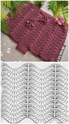 Zig Zag Crochet, Crochet Ripple, Crochet Chart, Crochet Motif, Crochet Baby, Knit Crochet, Crochet Bedspread Pattern, Crochet Stitches Patterns, Crochet Designs