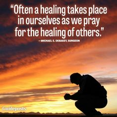 There is power in prayer. Be a prayer warrior, and be lifted high.