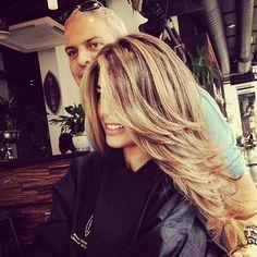 """Killer haircut and hair colour for the stunning beauty Sophie  Stadbury @sjstanbury  @giugiustan  @michaelnyumba  f…"""