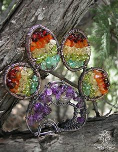 Rainbow Bridge Pet Animal Lover In Memory Paw Print Tree of Life Wire Wrapped Ornament Sun catcher Gift