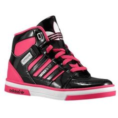 adidas Originals Hard Court Hi 2 - Girls Preschool - Black/Black/Blast Pink