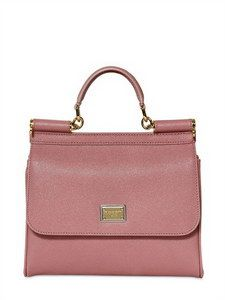62df7656646f Dolce   Gabbana - Pink Miss Sicily Slim Saffiano Leather Bag - Lyst