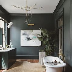 modern row house - Located in Charleston, South Carolina, this modern row house received a major interior design overhaul by American creative studio Workstead. House Design, House, Home, House Interior, Home Interior Design, Interior Design, Beautiful Bathrooms, House And Home Magazine, Residential Interior