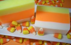 Candy Corn Soap  Soap for Kids  Halloween Soap  by asliceofdelight, $5.00
