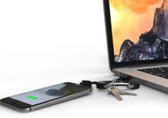 NomadClip – holds your keys and charges your phone