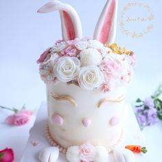 Lucia Butter Cream Flower Cake & Class www.luciancake.com Hello ! Bunny ? 🐰🌷✨ Easter is right around the corner.  It's been a fun making a easter bunny floral cake ! 🤗 Why don't you try this sweet little bunny for Easter day ?🐰💕 👉🏻Please contact me for your special private class in Korea  Hope to see you soon ! 🎀[Class - basic & advanced ] email:luciacake@naver.com  Whatsapp:luciacake / Line:luciacake/Fb:luciacake0215 #koreanbuttercream #flowercake #luciacake…