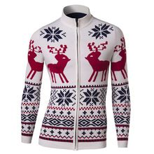 New Mens Chill Out Snowman Printed Knitted Crew Neck Christmas Jumper Size S-XXL
