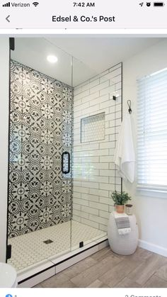 Master Bathroom Shower, Upstairs Bathrooms, Bathroom Renos, Small Bathroom, Basement Bathroom, Bathroom Ideas, Master Bath Remodel, Shower Remodel, Bathroom Interior Design