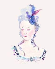 Happy Menocal - people illustrations - M. Antoinette [love everything!]
