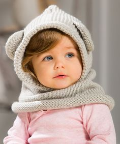 Look what I found on #zulily! Light Gray Bear Hooded Knit Beanie #zulilyfinds