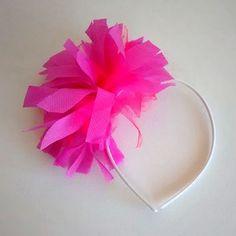 vincha pompon flecos flores - cotillon fiestas x 12 vinchas