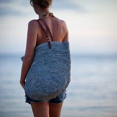 Black Straw Beach Bag Large Straw Beach Bag Black by MOOSSHOP ...