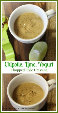 Chipotle, Lime, Yogurt, Chopped Style Dressing  The Kitchen Chopper