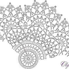 Crochet Collar Pattern, Crochet Tablecloth Pattern, Crochet Doily Diagram, Crochet Flower Tutorial, Crochet Doily Patterns, Thread Crochet, Crochet Motif, Crochet Stitches, Crochet Coaster