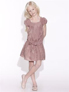 GIRLS' TUNIC DRESS MELON ROSEWOOD PRINT
