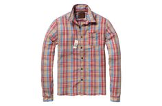 Elbow patched long-sleeved flannel shirt - Scotch & Soda