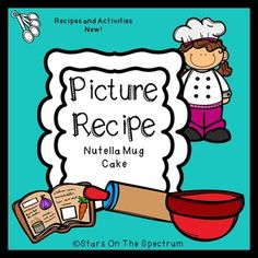FREE! Picture Recipe Packet. Includes to versions of recipe, checklists, vocabulary cards, certificate and more! Cooking with young children and children with special needs is such a fun and beneficial activity. Picture recipes are great for following directions and measurement skills and the language stimulation possibilities are endless.