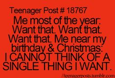 Yep. Than after Christmas you think of all the things you could have asked for.